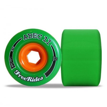 ABEC11 FREE RIDES  CENTER SET 72MM 81A